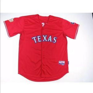 C.J. Wilson Texas Rangers 2011 World Series Jersey